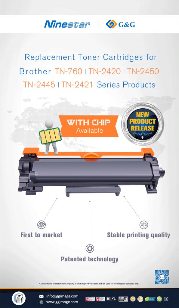 Patentsicher und mit Chip. Der Ersatztoner von G&G - kompatibel zum Brother TN-2420