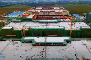 Die erste Bauphase der G&G Druckerproduktion ist fast fertig.